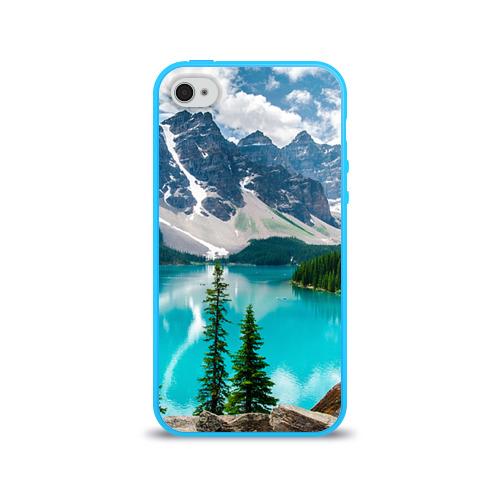 Чехол для Apple iPhone 4/4S силиконовый глянцевый  Фото 01, Озеро