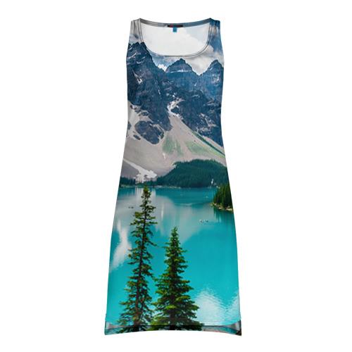 Платье-майка 3D Озеро