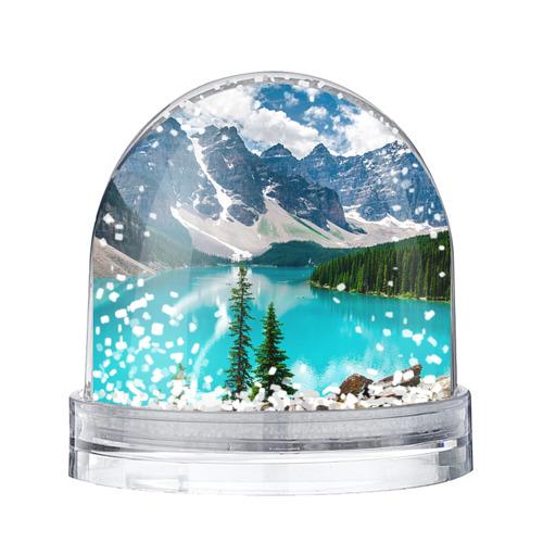 Водяной шар со снегом Озеро