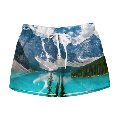 Женские шорты 3D Озеро