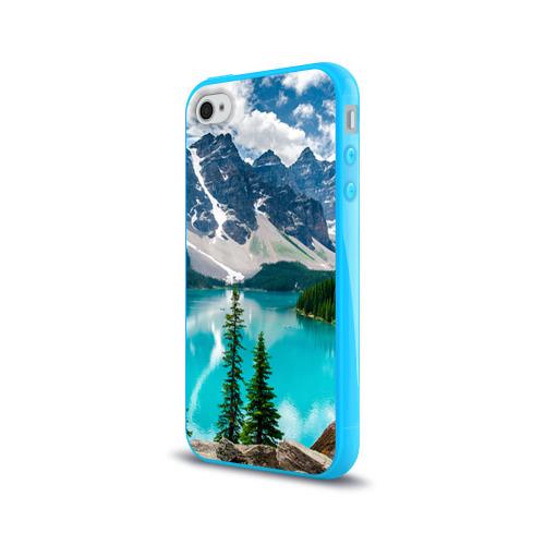 Чехол для Apple iPhone 4/4S силиконовый глянцевый  Фото 03, Озеро