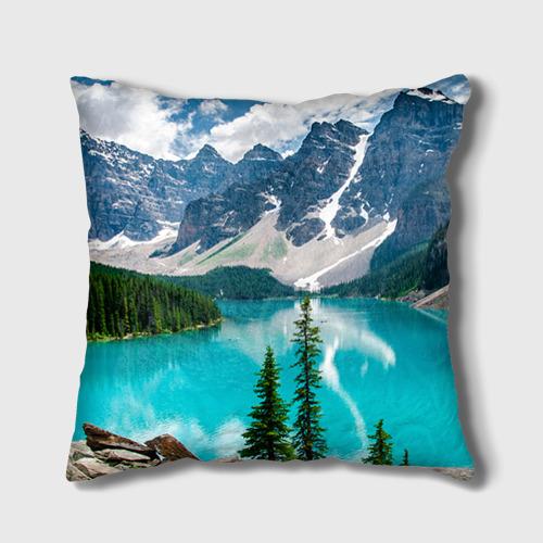 Подушка 3D Озеро Фото 01
