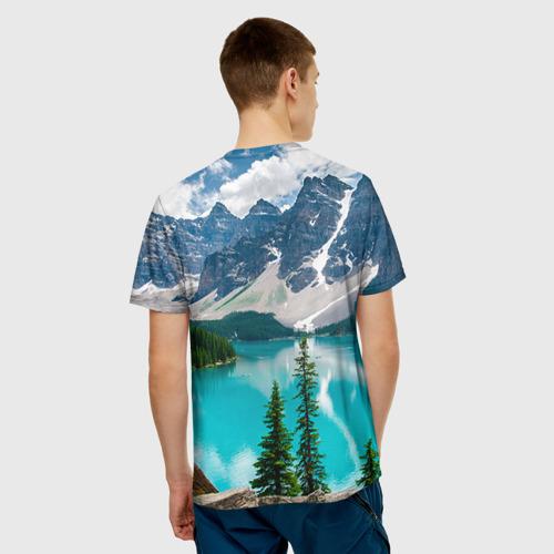 Мужская футболка 3D Озеро