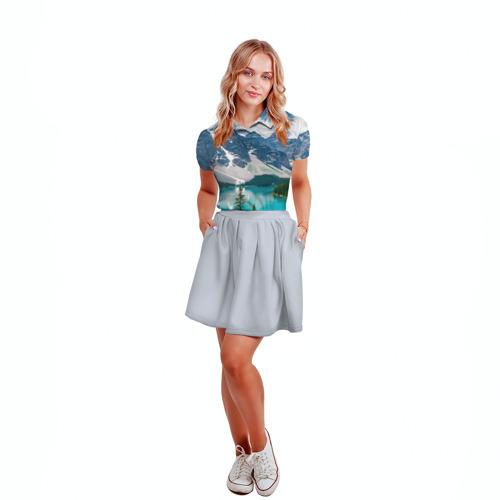 Женская рубашка поло 3D  Фото 04, Озеро