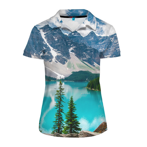 Женская рубашка поло 3D Озеро