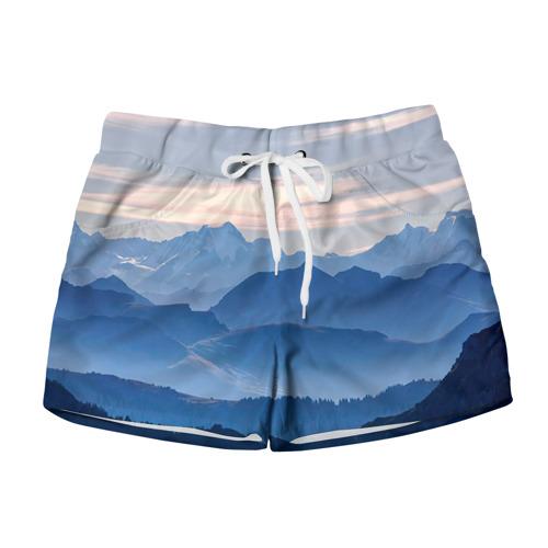 Женские шорты 3D Горы