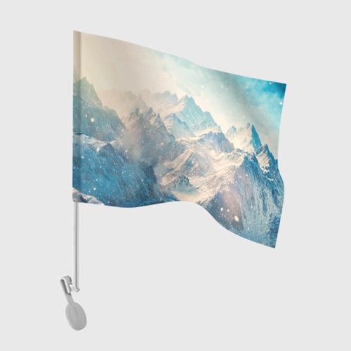 Флаг для автомобиля Горы