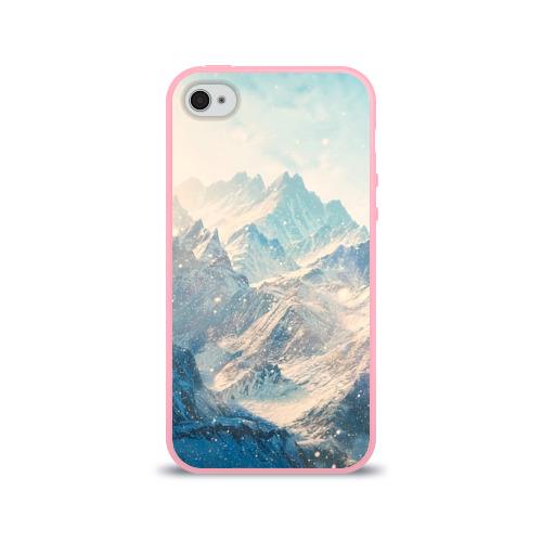 Чехол для Apple iPhone 4/4S силиконовый глянцевый Горы