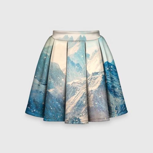 Детская юбка-солнце 3D Горы
