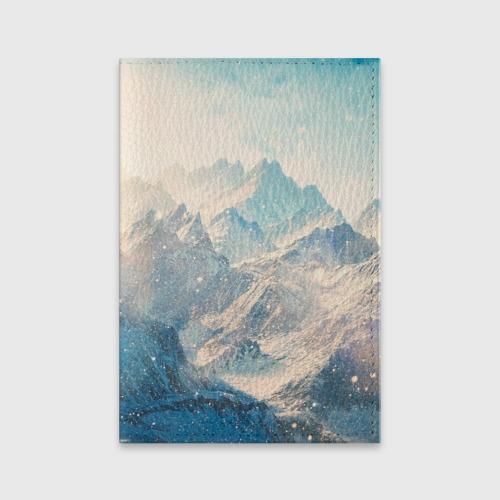 Обложка для паспорта матовая кожа Горы