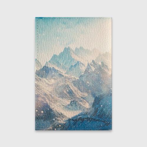 Обложка для паспорта матовая кожа Горы Фото 01