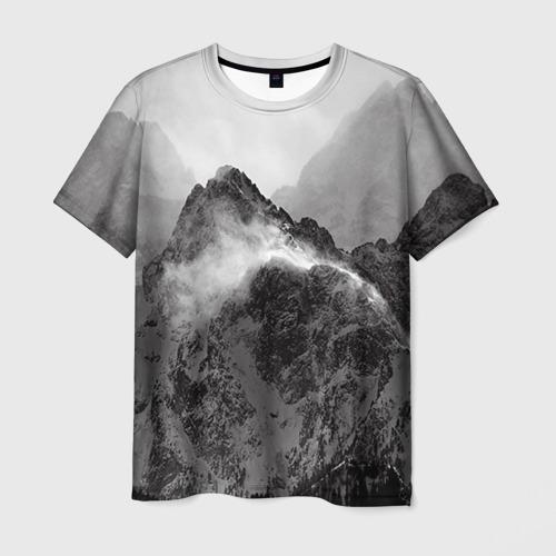 Мужская футболка 3D Горы