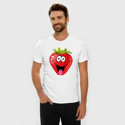 Мужская футболка премиум  Фото 03, Клубника