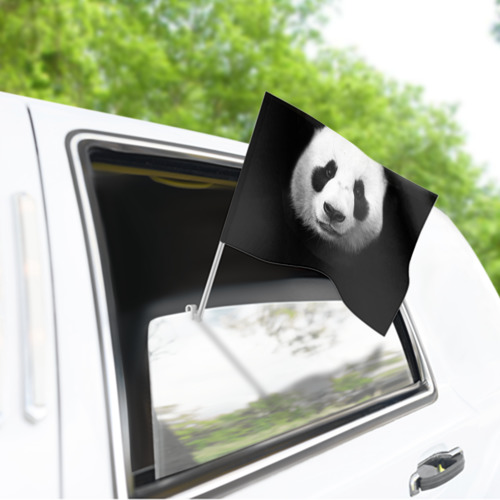 Флаг для автомобиля Панда Фото 01