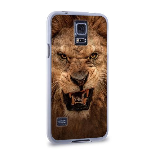 Чехол для Samsung Galaxy S5 силиконовый  Фото 02, Лев