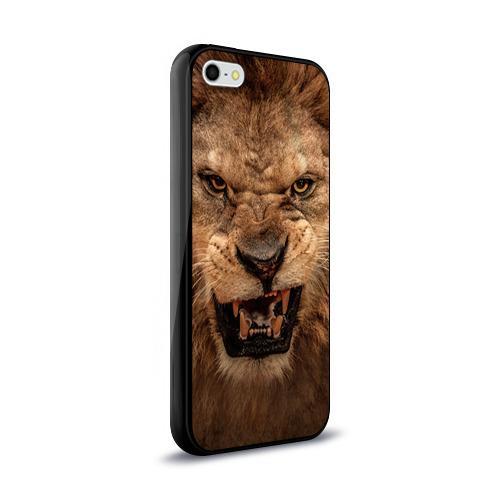 Чехол для Apple iPhone 5/5S силиконовый глянцевый Лев Фото 01
