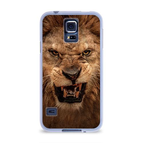 Чехол для Samsung Galaxy S5 силиконовый  Фото 01, Лев