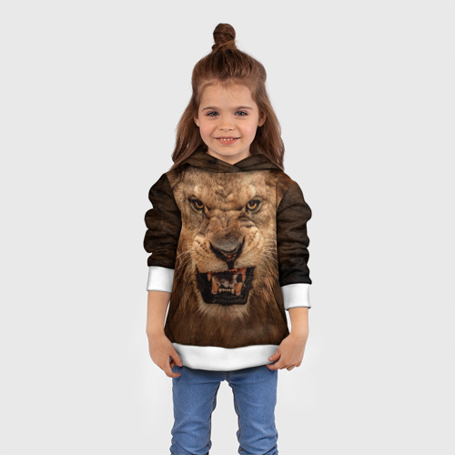 Детская толстовка 3D Лев