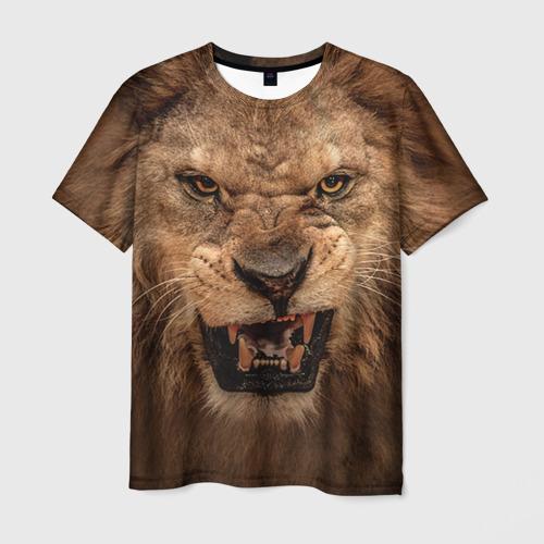 Мужская футболка 3D Лев