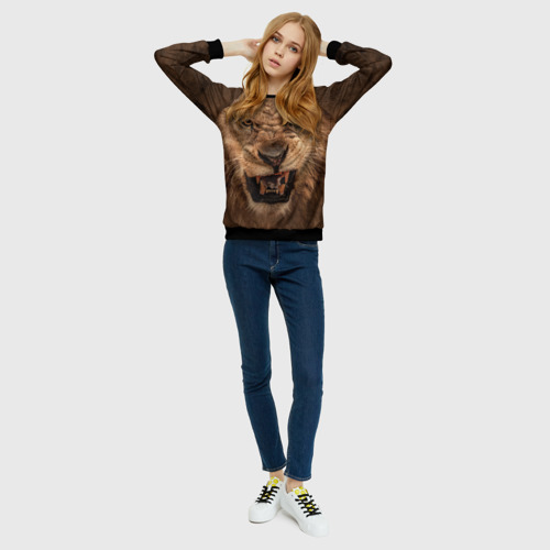 Женский свитшот 3D Лев