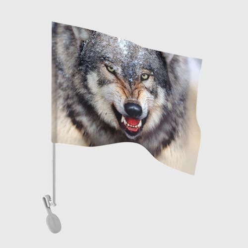 Флаг для автомобиля Волк