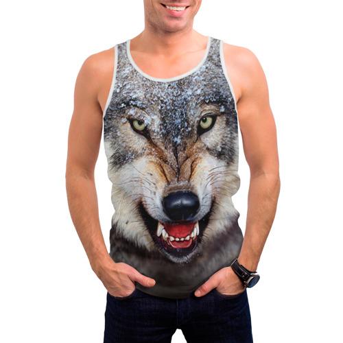 Мужская майка 3D Волк Фото 01