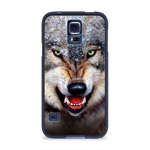 Чехол для Samsung Galaxy S5 силиконовый Волк