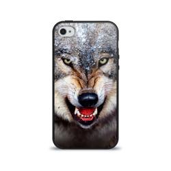 Чехол для Apple iPhone 4/4S силиконовый глянцевыйВолк