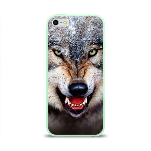 Чехол для iPhone 5/5S глянцевый Волк Фото 01