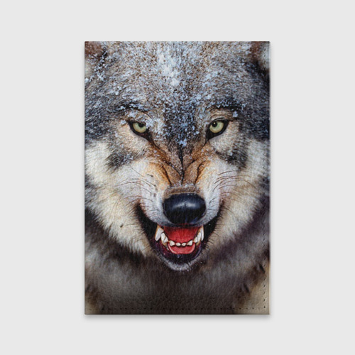 Обложка для паспорта матовая кожа Волк