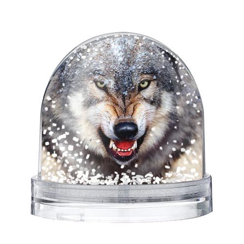 Водяной шар со снегом Волк