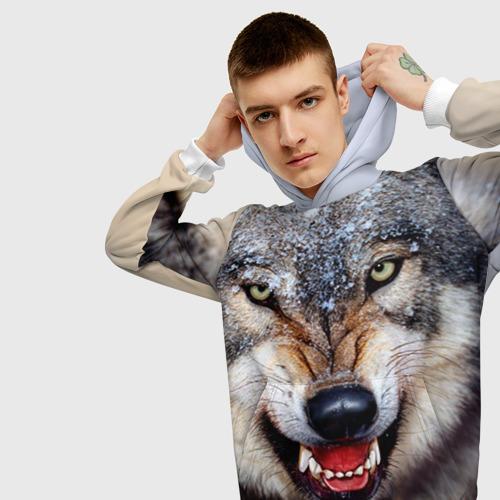 Мужская толстовка 3D Волк
