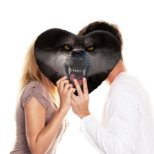 Подушка 3D сердце  Фото 03, Злой волк