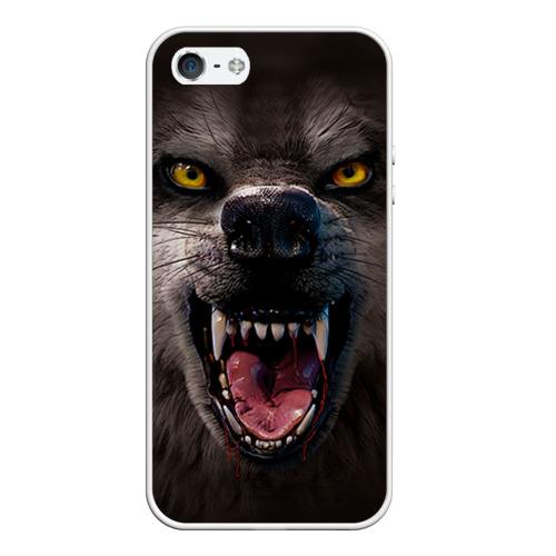 Чехол силиконовый для Телефон Apple iPhone 5/5S Злой волк от Всемайки