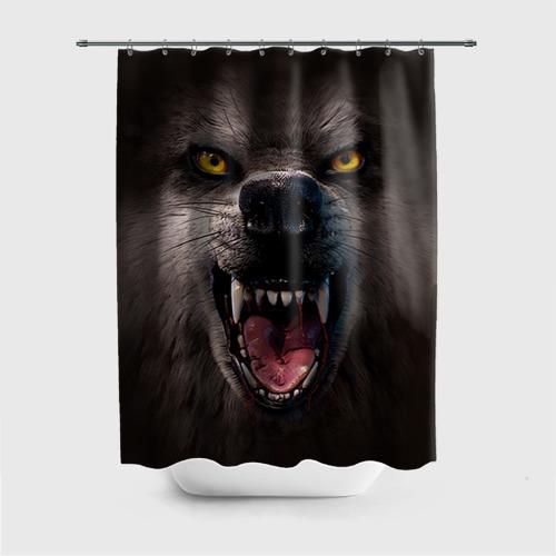 Штора для ванной Злой волк от Всемайки