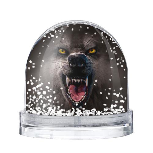 Водяной шар со снегом Злой волк