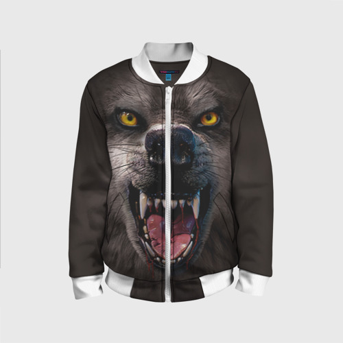 Детский бомбер 3D Злой волк
