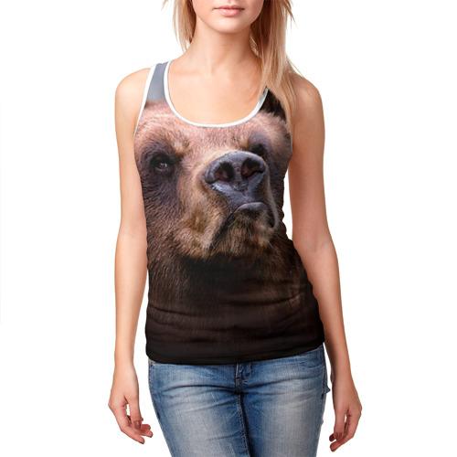 Женская майка 3D  Фото 03, Медведь