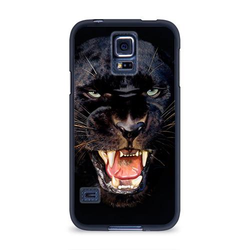 Чехол для Samsung Galaxy S5 силиконовый Пантера