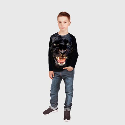 Детский лонгслив 3D Пантера Фото 01