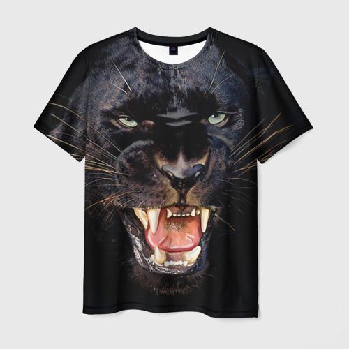 Мужская футболка 3D Пантера