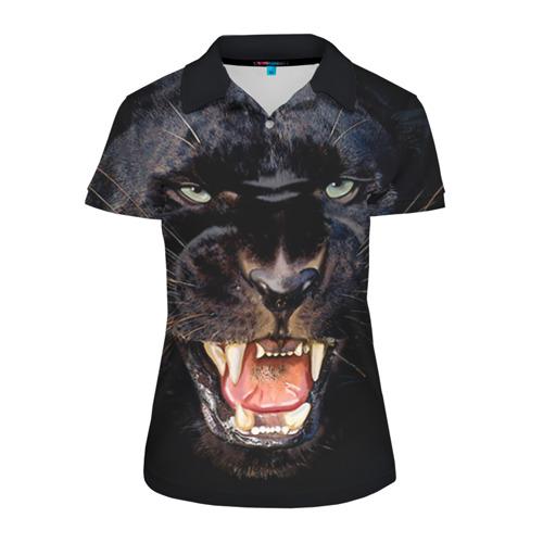 Женская рубашка поло 3D Пантера