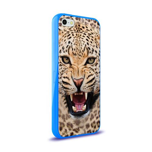 Чехол для Apple iPhone 5/5S силиконовый глянцевый  Фото 02, Леопард