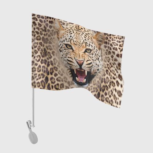 Флаг для автомобиля Леопард