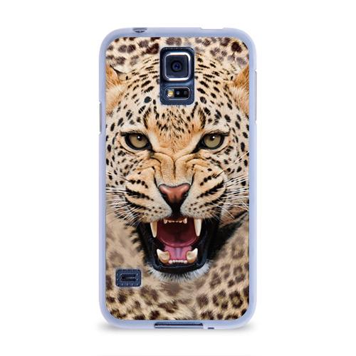 Чехол для Samsung Galaxy S5 силиконовый Леопард