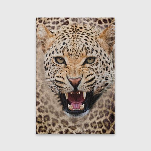 Обложка для паспорта матовая кожа Леопард