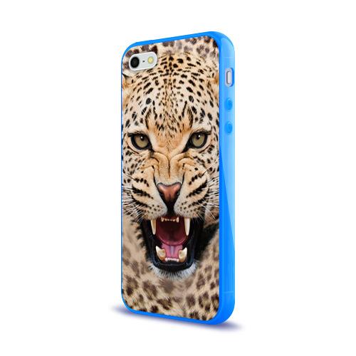 Чехол для Apple iPhone 5/5S силиконовый глянцевый  Фото 03, Леопард