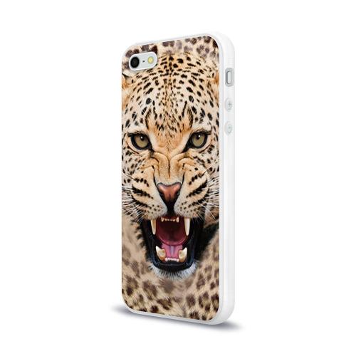 Чехол для iPhone 5/5S глянцевый Леопард Фото 01
