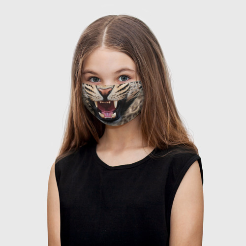 Детская маска (+5 фильтров) Леопард Фото 01