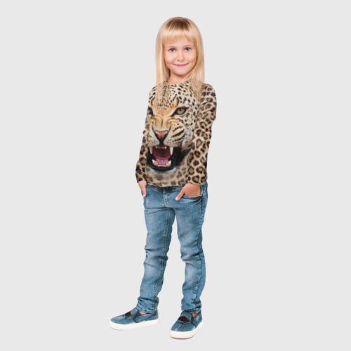 Детский лонгслив 3D Леопард Фото 01